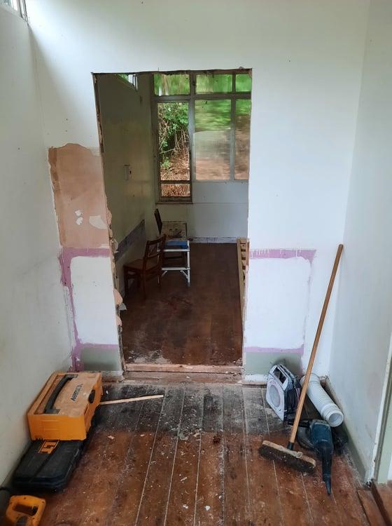 New Partiion Door in Kindy